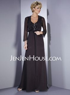 Mother of the Bride Dresses - $137.79 - A-Line/Princess V-neck Floor-Length Chiffon  Charmeuse Mother of the Bride Dresses With Ruffle  Beading (008005982) http://jenjenhouse.com/A-line-Princess-V-neck-Floor-length-Chiffon--Charmeuse-Mother-Of-The-Bride-Dresses-With-Ruffle--Beading-008005982-g5982