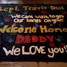 Welcome home sign.....we can't wait to get our hands on you.