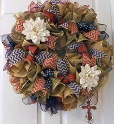 Beautiful All Seasons Wreath Deco Mesh Burlap by PJCreativeWreaths, $65.00