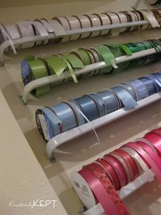 organ idea, curtains, craft organ, diy ribbon storage, clever idea, curtain rods, crafti room, craft room ribbon organization, craftroom storage ideas