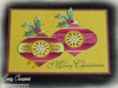 Christmas Bauble by Stampin' Up! coloured with Blendabilities markers.  See it at Tiny Kiwi Cards.