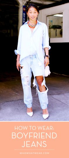 These super-stylish boyfriend jeans outfits are truly GENIUS! // #streetstyle