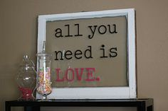 Sign idea for a rustic chic wedding, update the Valentine decor for your wedding style!