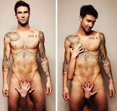 Adam Levine. Naked. You're welcome! #adamlevine #naked #sexy #tattoos