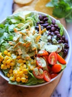 Southwestern Chopped Salad with Cilantro Lime Dressing