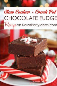 Slow Cooker Peppermint Chocolate Fudge | AllFreeSlowCookerRecipes.com