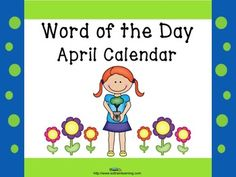This calendar incorporates both Math and ELA. Each day has an April vocabulary word in addition to 2 patterns. We've also included a teacher guide for activities to do with our calendar.  Teacher guide with ideas for calendars $ #calendar#April#ELA#vocabulary#patterns#TPT#teaching ideas#education