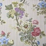 Outstanding Lee Jofa Silk Floral Kentmere Lampas Upholstery Fabric from Italy