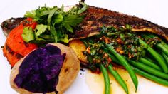 Summer BBQ at The Peninsula Beverly Hills - Whole Broiled Brook Trout Apricot | Haricot Vert