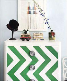 painted dressers, chevron dresser, paint dresser