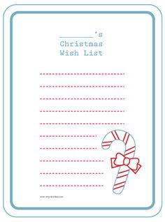 Printable Christmas Wish List!