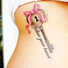 """Love this tattoo but i would say """" you have the key to my heart"""" do it for a sister tattoo"""