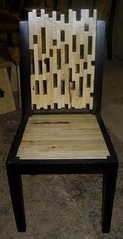 Wood Chair Design #4 - Shown in Light Color Wood - Item # DC06026 - Available in Dark Color Wood
