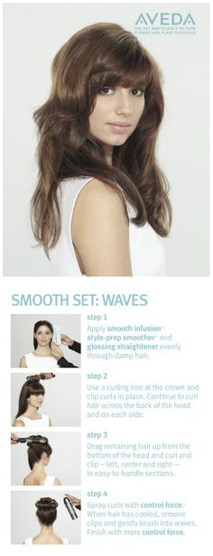 #HairHowTo Give Hair Smooth Waves with a Set #SmoothInfusion