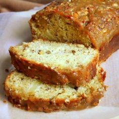 appl pralin, manila spoon, pralin bread, brown sugar, food