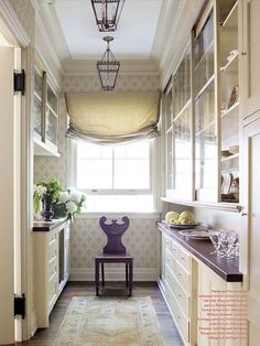 Butler's Pantry with Farrow & Ball wallpaper -Amelia Handegan