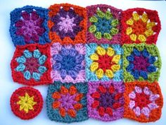 Joining Granny Squares as you go - Crochet tutorial