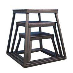 "Plyometric Platform Box Set- 12"", 18"", 24"" Black"