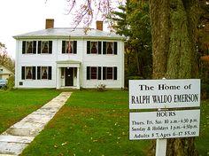 The Ralph Waldo Emerson home in Concord, MA