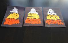 Halloween Kids Craft... Candy Corn Mosaic Collage!