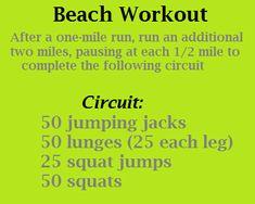 Beach Workout + running
