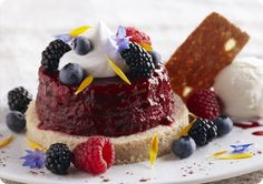 Driscoll's Mixed Berry Summer Pudding with Shortbread www.driscolls.com #driscolls #sweepstakes