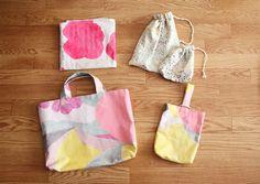 Kindergarten nani IRO bag set by Mishinnoko