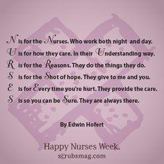 What does NURSE mean to you? #nursesweek #quotes #nurses #nursing via @Julie Perrigo Magazine nurs life, nurs 101, funni, quot inspir, super nurs, nurs quot, nurs stuff, happi nurs, nurse quotes
