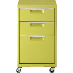 TPS chartreuse file cabinet in all office | CB2