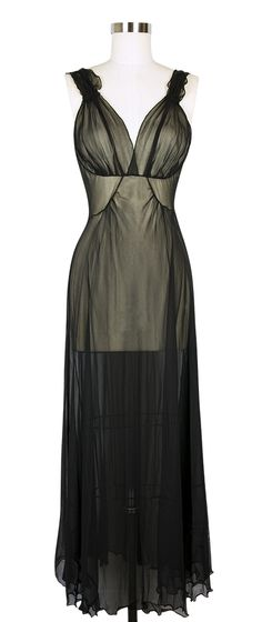 Mary Green Silk Georgette '40′s' Gown – $163.00