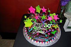 30th Birthday Cake 80's Theme