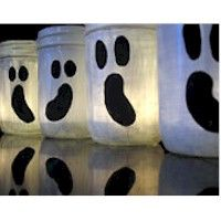 baby food jar ghost luminaries