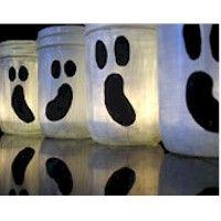 baby food jar ghost luminaries