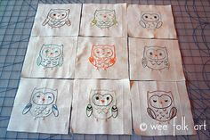 Embroidery Pattern :: Needle Work Owls | Wee Folk Art