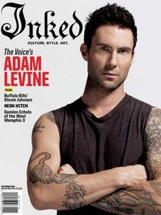 #Adam Levine #tattoo #Maroon 5 #inked
