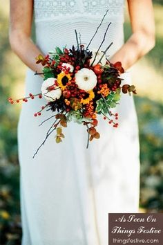 fall wedding bouquet #wedding #fall #fallwedding #fallweddingflowers