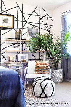 Sources + Details For My Bold and Beachy Master Bedroom Makeover | The Design Confidential