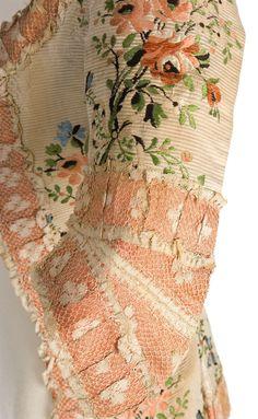 Lace detail on polonaise jacket 1770s, Imatex