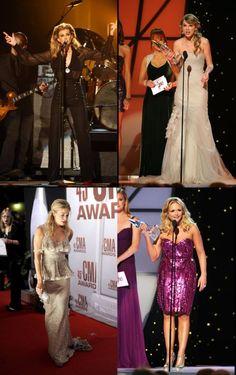 Faith Hill, Taylor Swift at CMA awards