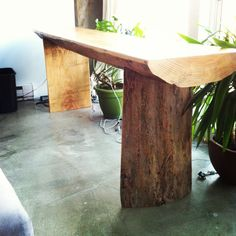 River Log Desk by JSReclaimedWood on Etsy, $1642.00