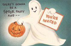 Vintage Halloween Invitation..    via pinterest