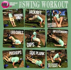 The Swing Workout   Fat Loss Workout to do at the PARK!  Works the entire body!