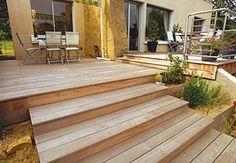 large steps - terrace in ipé