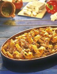 Ovenschotel met pasta en fetakaas