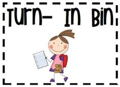 3rd Grade Thoughts: Monday Made It: The Turn-In Bin