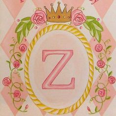 Baby Girls Wall Art Princess Banner Mural Painting on Canvas - Nursery Bedroom Decor. $119.99, via Etsy.