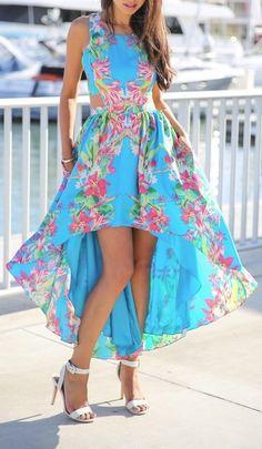 Floral summer dress ...