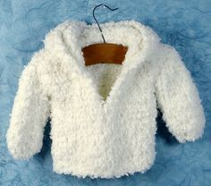 "Free knit American Girl 18"" Doll coat pattern.  So snuggly!"