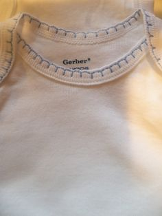 Use blanket stitch on sewing machine; be careful to not stretch the fabric.