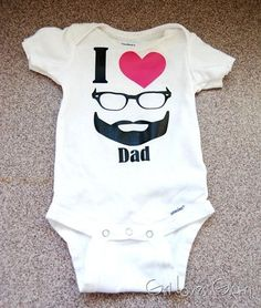 I heart dad onesie #